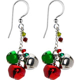 Holiday Jingle Bell Earrings Created with Swarovski Crystals