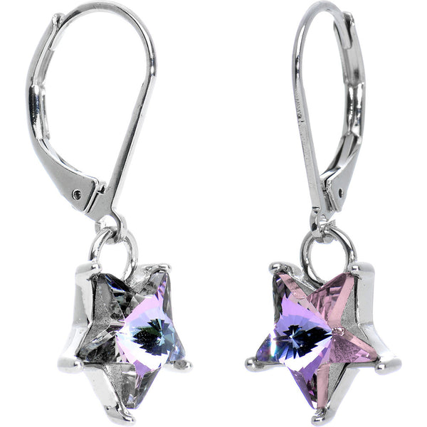 Vitrail Light Star Earrings Created with Swarovski Crystals