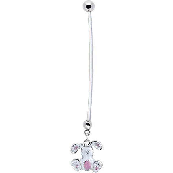 Stainless Steel Holiday Easter Bunny Pregnant Belly Ring
