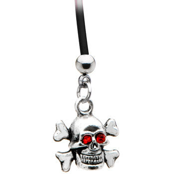 Skull and Crossbones Pregnant Belly Ring