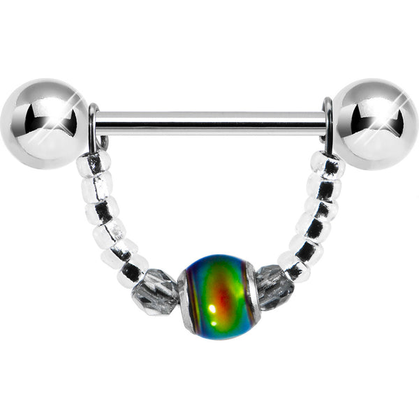 Handcrafted Mood Bead Nipple Ring