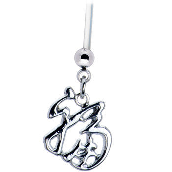 Luck Chinese Symbol Pregnant Belly Ring