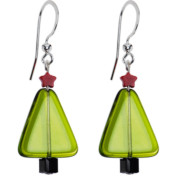Handcrafted Holiday Christmas Tree Earrings
