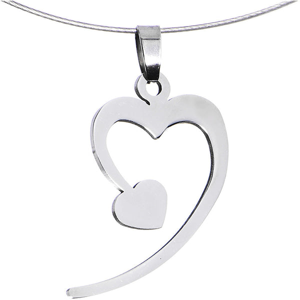 Handcrafted Steel Heart of Hearts Wire Choker