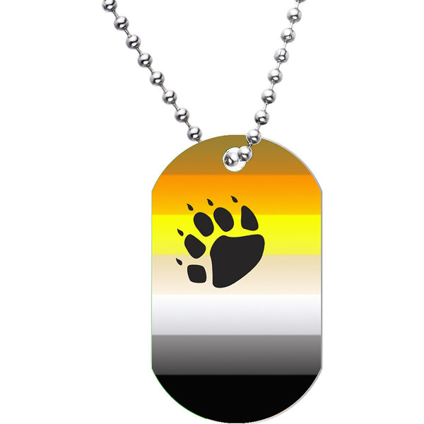 Bear Brotherhood Dog Tag Necklace