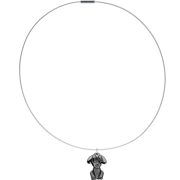 Hemalyke Puppy Dog Choker Necklace
