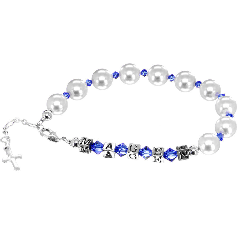 69ca0ab2c Handcrafted Personalized Birthstone Rosary Bracelet Created with Swarovski  Crystals