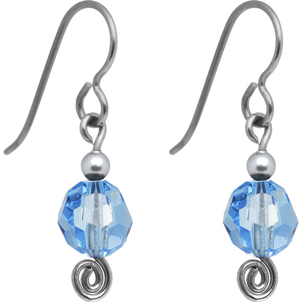 March Titanium Nickel Free Earrings Created with Swarovski Crystals