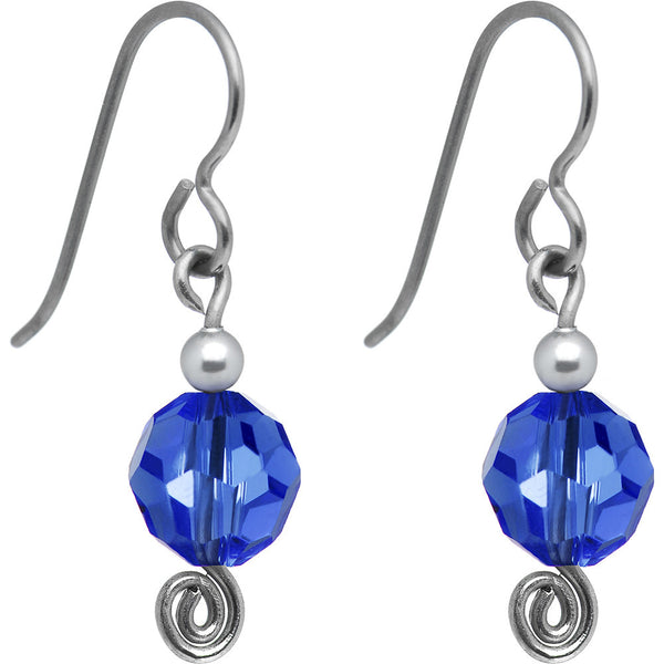 September Nickel Free Earrings Created with Swarovski Crystals