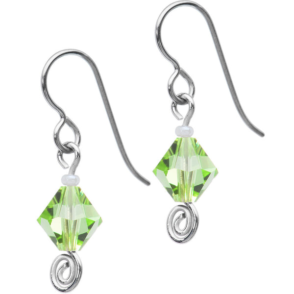 Titanium August Birthstone Earrings Created with Swarovski Crystals