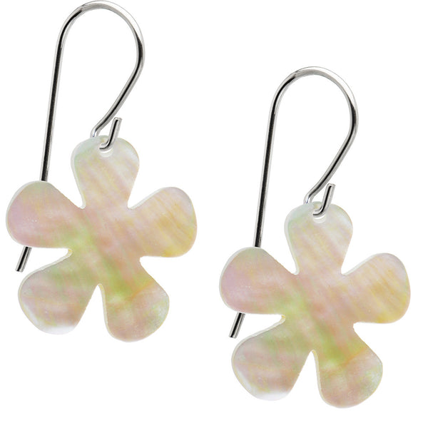 Handcrafted Mother of Pearl Flower Earrings