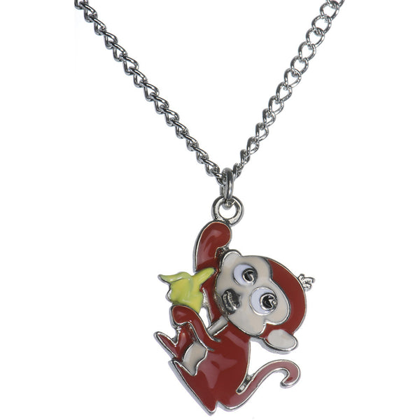 Banana Monkey Pendant Necklace