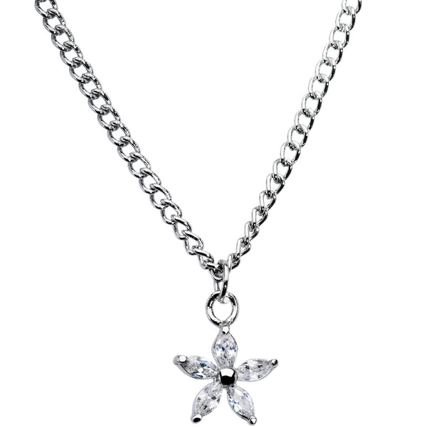 Cubic Zirconia Lilly Necklace