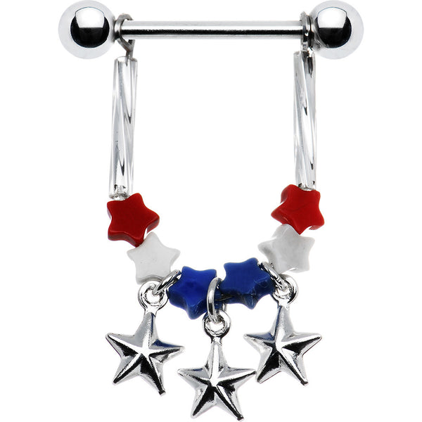Handcrafted Patriotic Star Nipple Ring