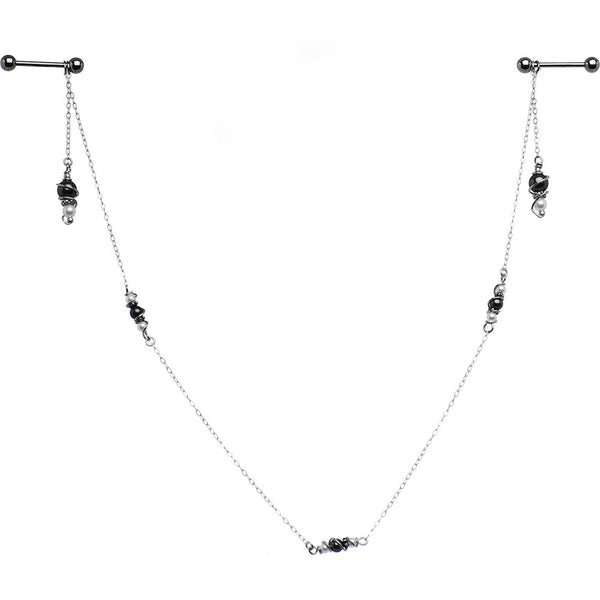 Classy Sassy Barbell Nipple Chain Created with Swarovski Crystals