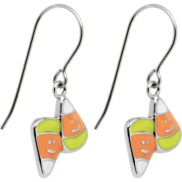 Handcrafted Halloween Candy Corn Earrings