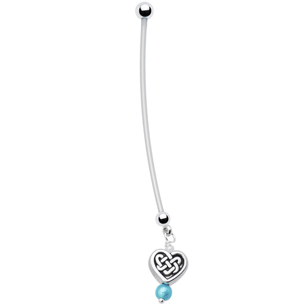 Celtic Heart Pregnant Belly Ring