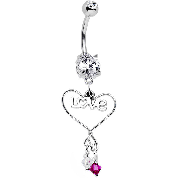 Personalized Anniversary Birthstone Belly Ring MADE WITH SWAROVSKI ELEMENTS
