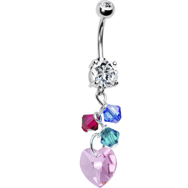 Handcrafted Personalized Mother and Child Belly Ring MADE WITH SWAROVSKI ELEMENTS