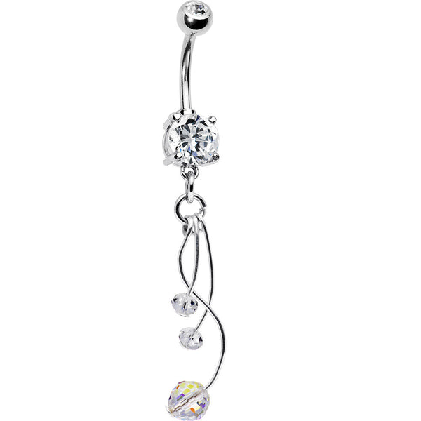 Handcrafted Disco Fever Crystal Belly Ring