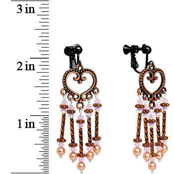 Handcrafted Romance Clip Earrings Created with Swarovski Crystals