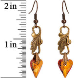 Autumn Crystal Heart Earrings Created with Swarovski Crystals