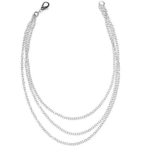 Handcrafted Silver Plated 3 Chain Anklet