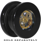 9/16 Black Acrylic Steampunk Pocket Watch Movement Plug