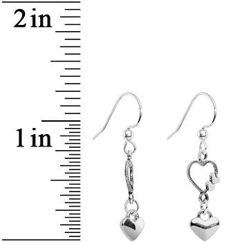 Open Your Heart Dangle Earrings