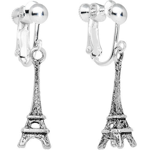 Parisian Belle Dangle Clip On Earrings