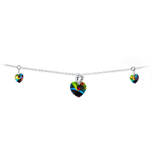 Vitrail Medium Heart Belly Chain Created with Swarovski Cystals