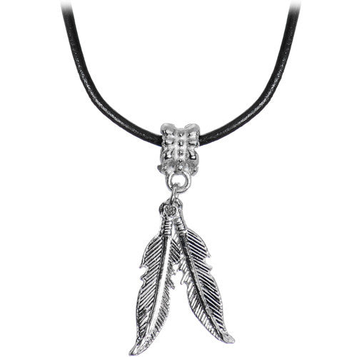 Native American Feather Dangle Choker Necklace