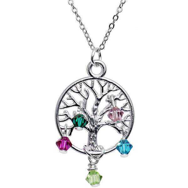 Handcrafted Custom Family Tree Personalized Birthstone Necklace