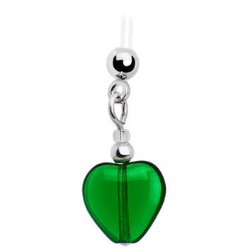 Handcrafted Heart May Birthstone Pregnant Belly Ring
