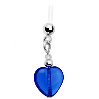 Handcrafted Heart September Birthstone Pregnant Belly Ring