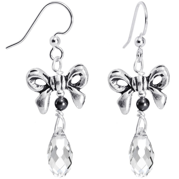 Ribbon Crystal Drop Earrings Created with Swarovski Crystals