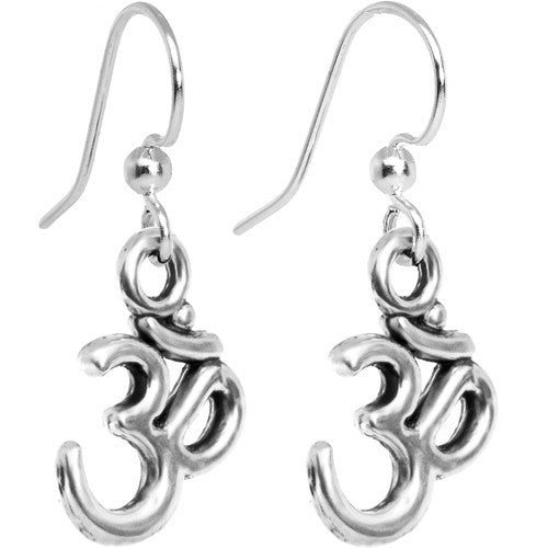 Spiritually Uplifting Ohm Symbol Dangle Earrings