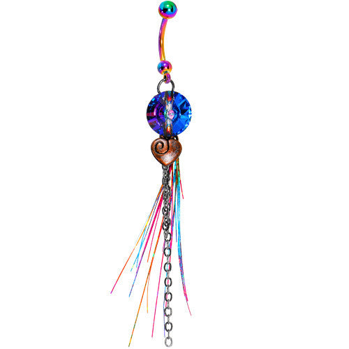 Handmade Cosmic Fiesta Belly Ring Created with Swarovski Crystals