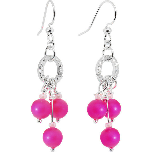 Crystalline Gem Pink Hoop Earrings Created with Swarovski Crystals