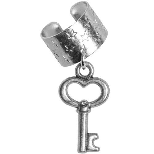 Key to Your Heart Dangle Ear Cuff