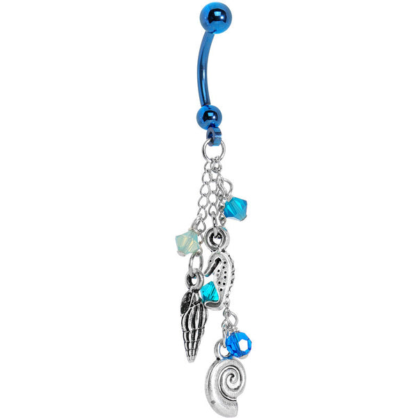 Handcrafted Poseidon's Paradise Belly Ring