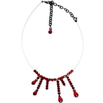 Handmade Vampire Kiss Choker Necklace Created with Swarovski Crystals