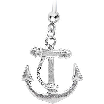 Nautical Anchor Drop Pregnant Belly Ring