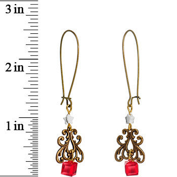 Handcrafted Christmas Tree Earrings Created with Swarovski Crystals