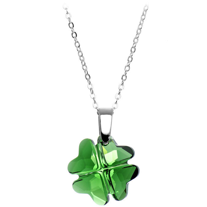 1e5d3fc97b4f77 Handcrafted Four Leaf Clover Necklace Created with Swarovski Crystals –  BodyCandy