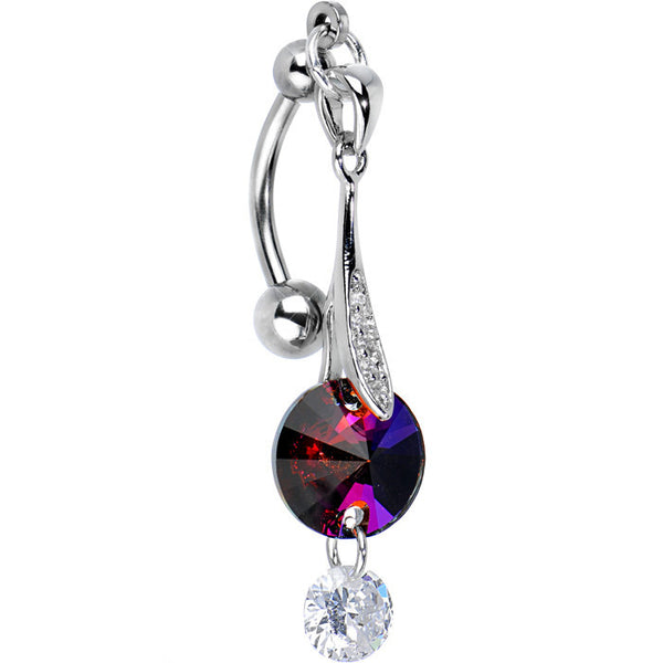 CZ Hollywood Glamour Top Mount Belly Ring