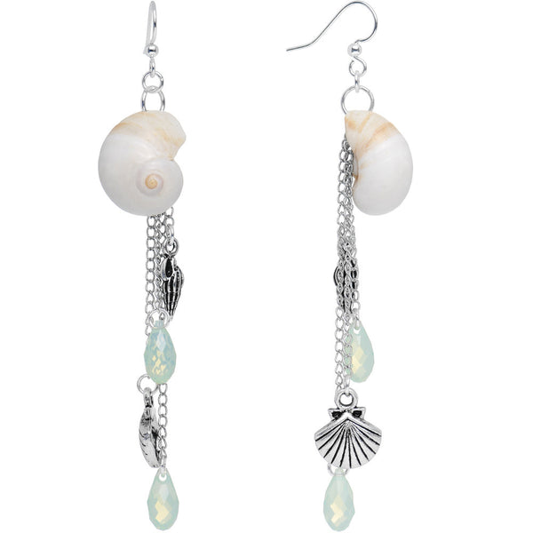Handmade Ocean Sounds Dangle Earrings Created with Swarovski Crystals