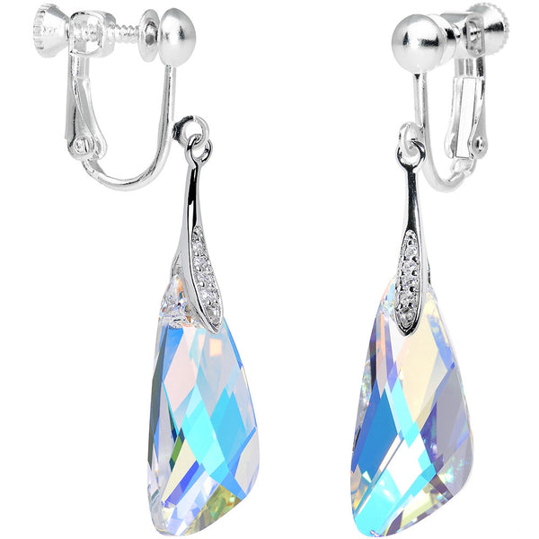 Aurora Crystal Inspire Clip On Earrings Created with Swarovski Crystals