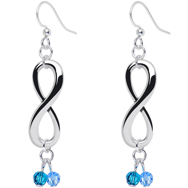 Custom Couple Infinity Dangle Earrings Created with Swarovski Crystals