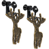 Handcrafted Wild at Heart Majestic Deer Clip On Earrings